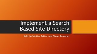 Search Based Site Directory: Part 4