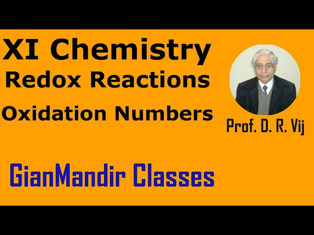XI Chemistry - Redox Reactions - Oxidation Numbers by Ruchi Ma'am