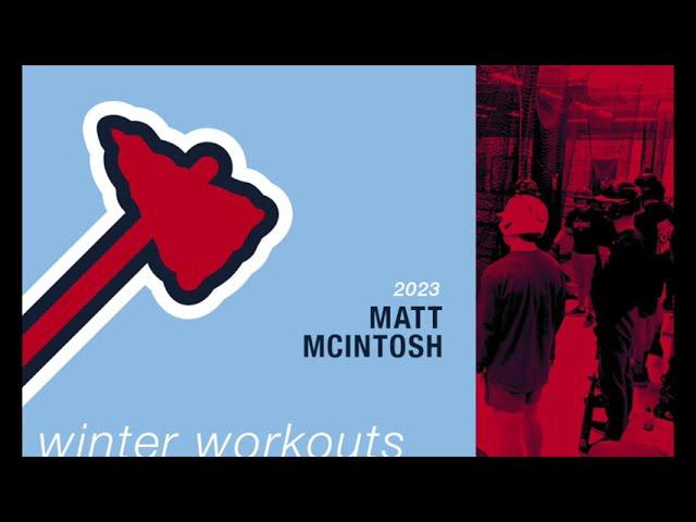 Michigan Braves Winter Workouts - Matt McIntosh