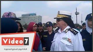 الشرطة النسائية تطالب الفتيات بالتمتع بالعيد وعدم التخوف من المتحرشين