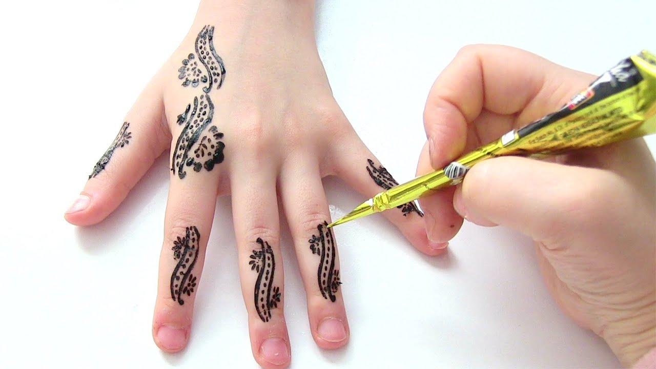 Geçici parmak boyası nasıl yapılır