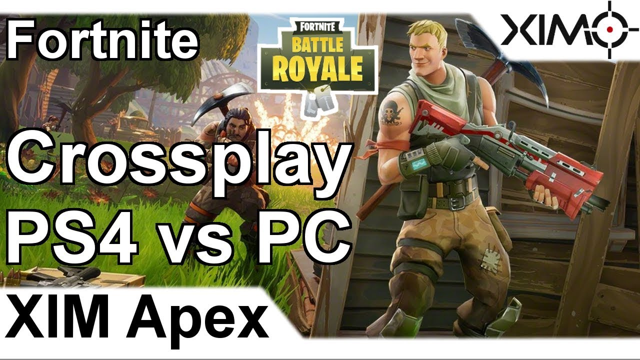 XIM APEX - Fortnite Battle Royale Crossplay against PC Victory Gameplay  (PS4)