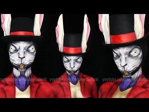 Alice: Madness Returns White Rabbit Makeup Tutorial