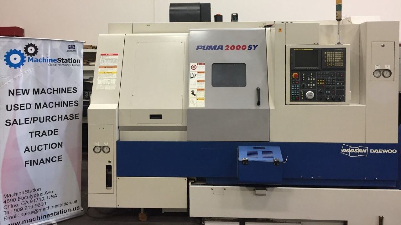 doosan daewoo puma 2000sy cnc turning center c y axis milling lathe rh youtube com Home CNC Machine CNC Spindle Drive