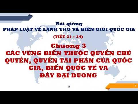 Pháp luật về lãnh thổ và biên giới quốc gia - Tiết 21+22+23+24
