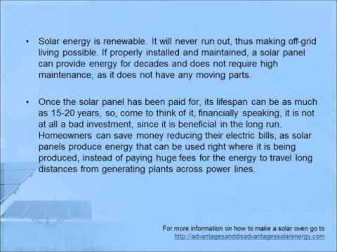 The Advantages of Solar Panels