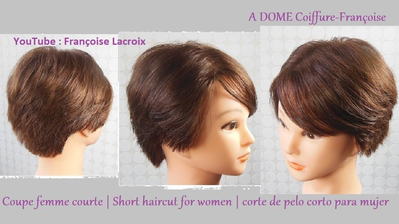 Coupe courte femme d grad e short haircut for women corte de pelo corto mujer youtube - Coupe degradee courte femme ...