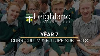Year 7 - Curriculum and Future Subjects