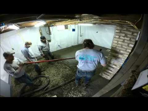 Concrete repour in nd basement time lapse video youtube for Pouring a basement