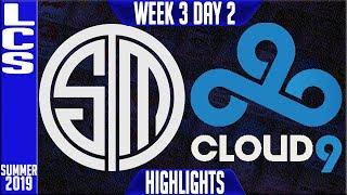 TSM vs C9 Highlights | LCS Summer 2019 Week 3 Day 2 | Team Solomid vs Cloud9