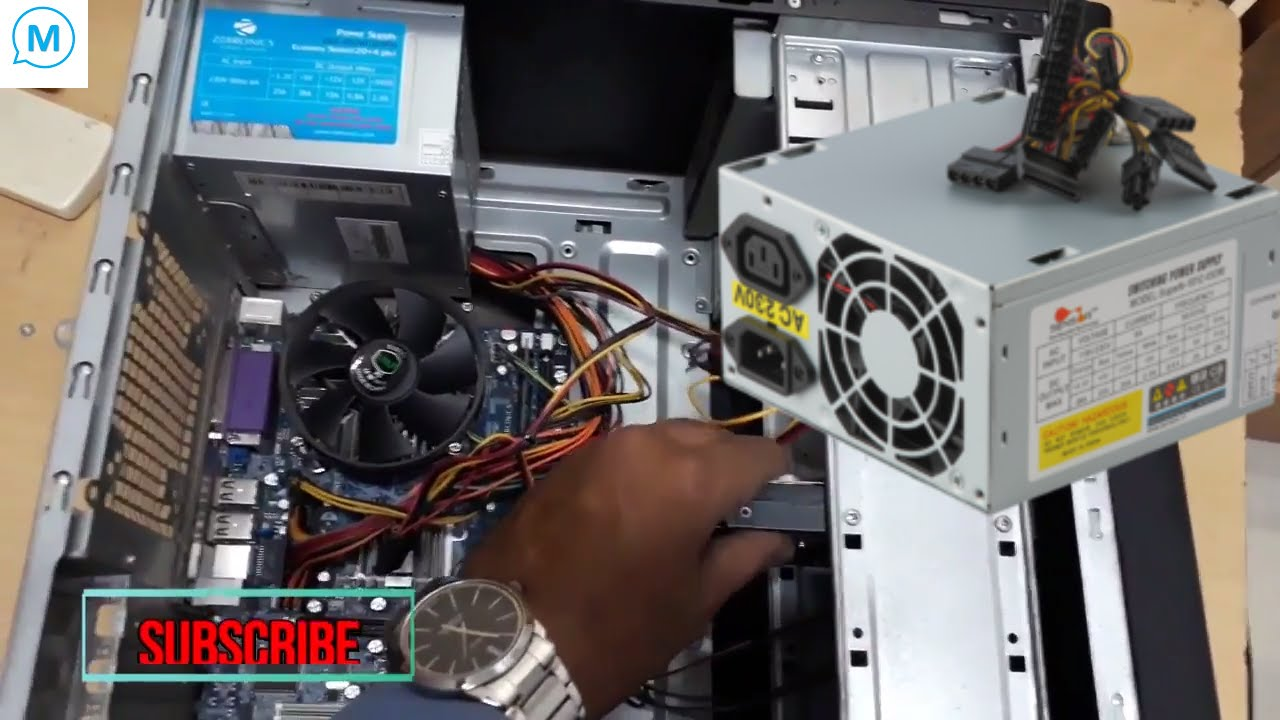 how to change SMPS (Power Supply ) in desktop computer - YouTube