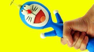 Doraemon clay cartoon 💕Superhero Play Doh Stop motion videos