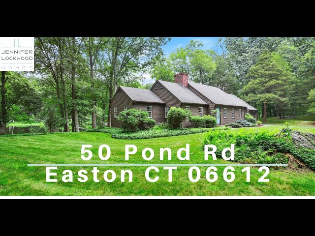 Home for Sale Easton CT | 50 Pond Road Easton 06612 | Fairfield County CT | Home on the water