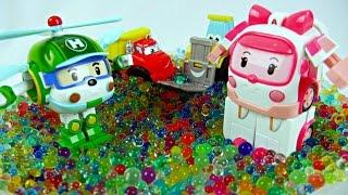 Игрушки-машинки. Робокары и орбиз. Видео с игрушками Робокар Поли для детей.