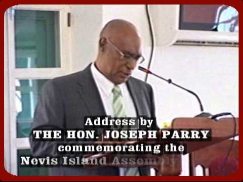 HON JOSEPH PARRY ADDRESSES THE NEVIS ISLAND ASSEMBLY @ 30