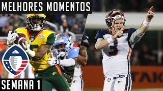 Melhores Momentos - Semana 1 | Alliance of American Football