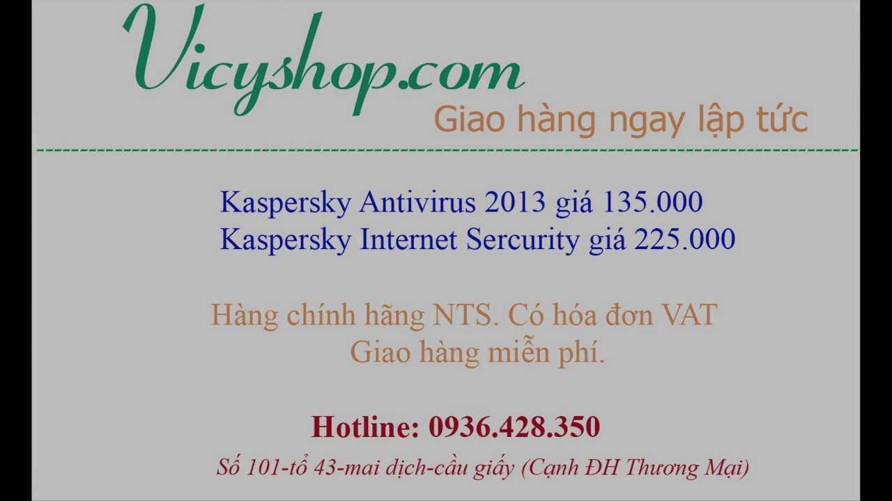 Bán phần mềm diệt virus kaspersky 2013 bản quyền tại Hà Nội | Vicyshop