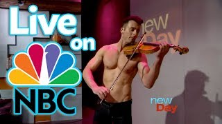 Shirtless Violinist Live on NBC Interview & Performance King 5 New Day Northwest