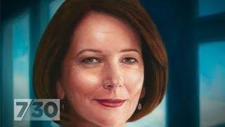 Official portrait of Julia Gillard unveiled at parliament house | 7.30