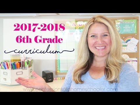 2017-2018 6th Grade Homeschool Curriculum