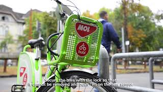 How to park a MOL Bubi bike? thumbnail