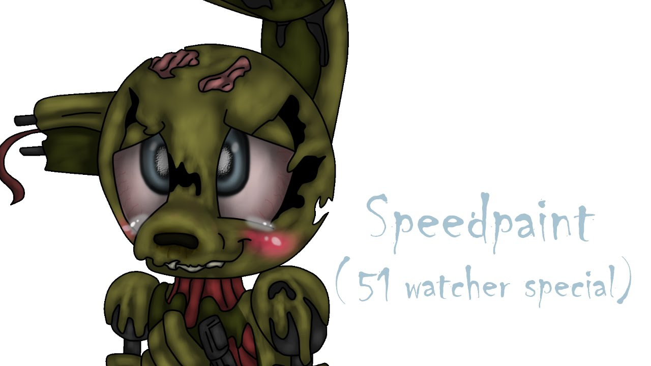 cute springtrap speedpaint 51 watcher special youtube