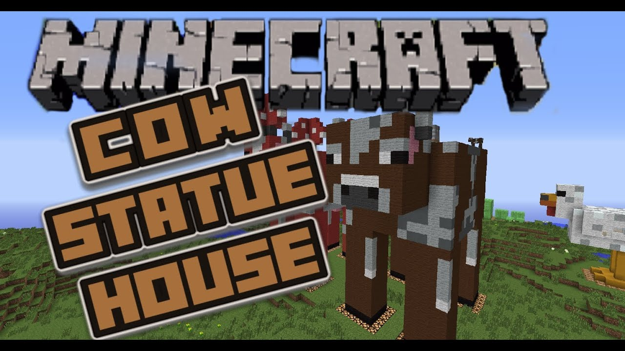 how to make a cow house in minecraft