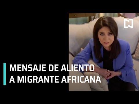Victoria Ruffo envía mensaje a migrante de Angola que aprendió español viendo Telenovelas - En Punto