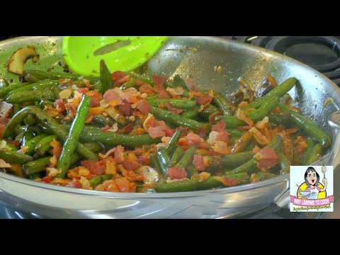 Green Beans With Bacon And Onions ~ Amy Learns To Cook