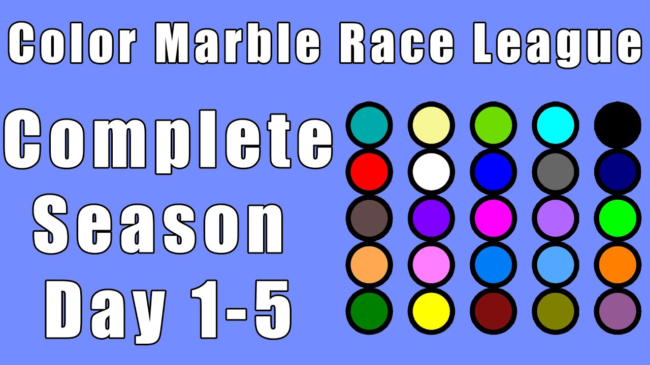 Color Marble Race League 2020 Complete Race Day 1-5 in Algodoo / Marble Race King
