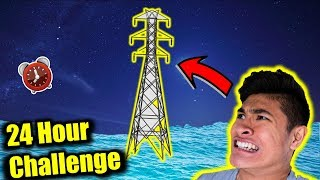 24 HOUR OVERNIGHT CHALLENGE on TOWER in Ocean (PART 2)
