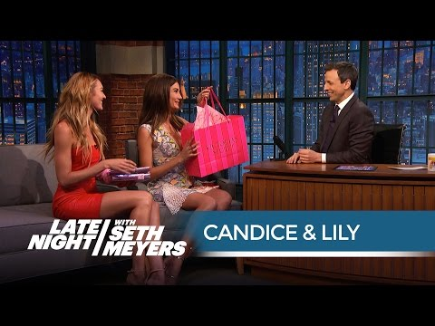 Candice Swanepoel & Lily Aldridge on Nearly Taking Out Ariana Grande with Victoria † s Secret Costumes