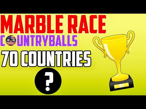 AMAZING +40 MINUTES COUNTRYBALLS MARBLE RACE | YOU CAN BET ON YOUR OWN COUNTRY AND WIN +70 COUNTRIES