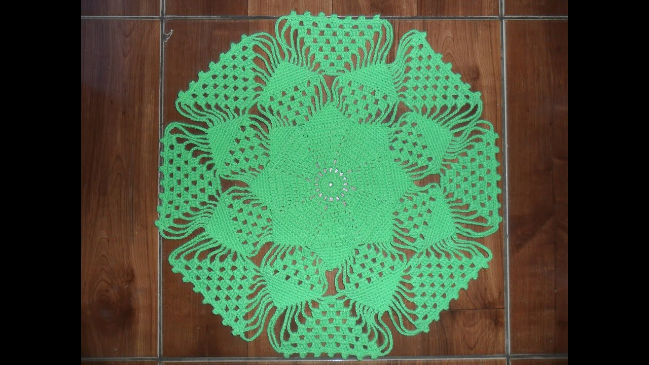 Centro de mesa em croch parte 1 youtube - Centro de mesa a crochet ovalado ...