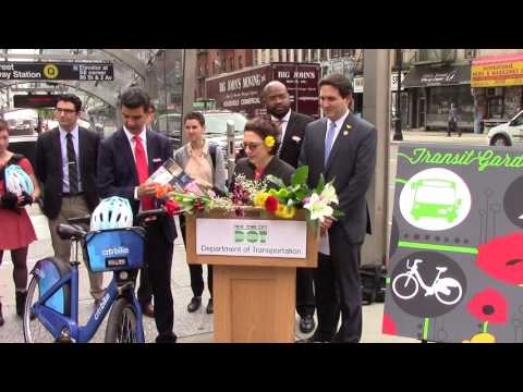 Department of Transportation Highlights the Upper East Side as Transportation Garden