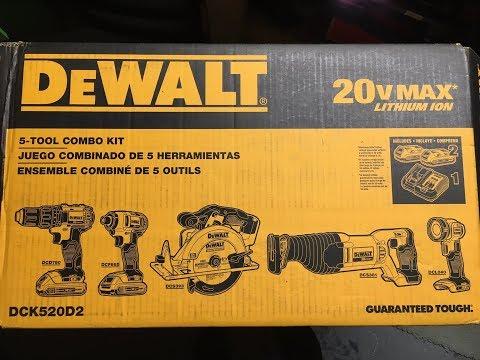 DeWalt 20 Volt Max DCK520D2 5 Tool Combo Kit (2018) - Review, Specs, And Use
