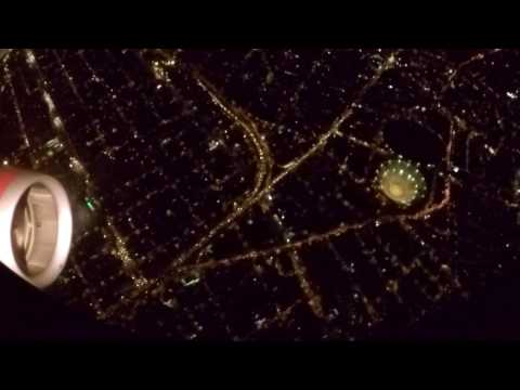 Flying Into Mexico City at Night