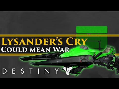 "Destiny - Why the ""Lysander's Cry"" Sparrow means a war is coming in Destiny"