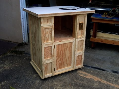Build a router table cabinet youtube for Build kitchen cabinets with kreg
