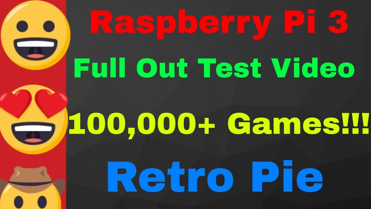 Retropie Retro Gaming Console 100,000+ Games Raspberry Pi 3