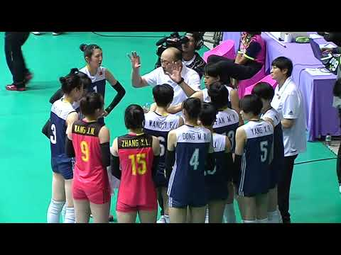 SMM 12th Asian Est Cola Women's U17 Volleyball Championship รอบรอง ระหว่าง เกาหลี vs จีน