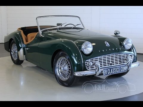 TRIUMPH TR3 A ROADSTER 1959 -VIDEO- www ERclassics com