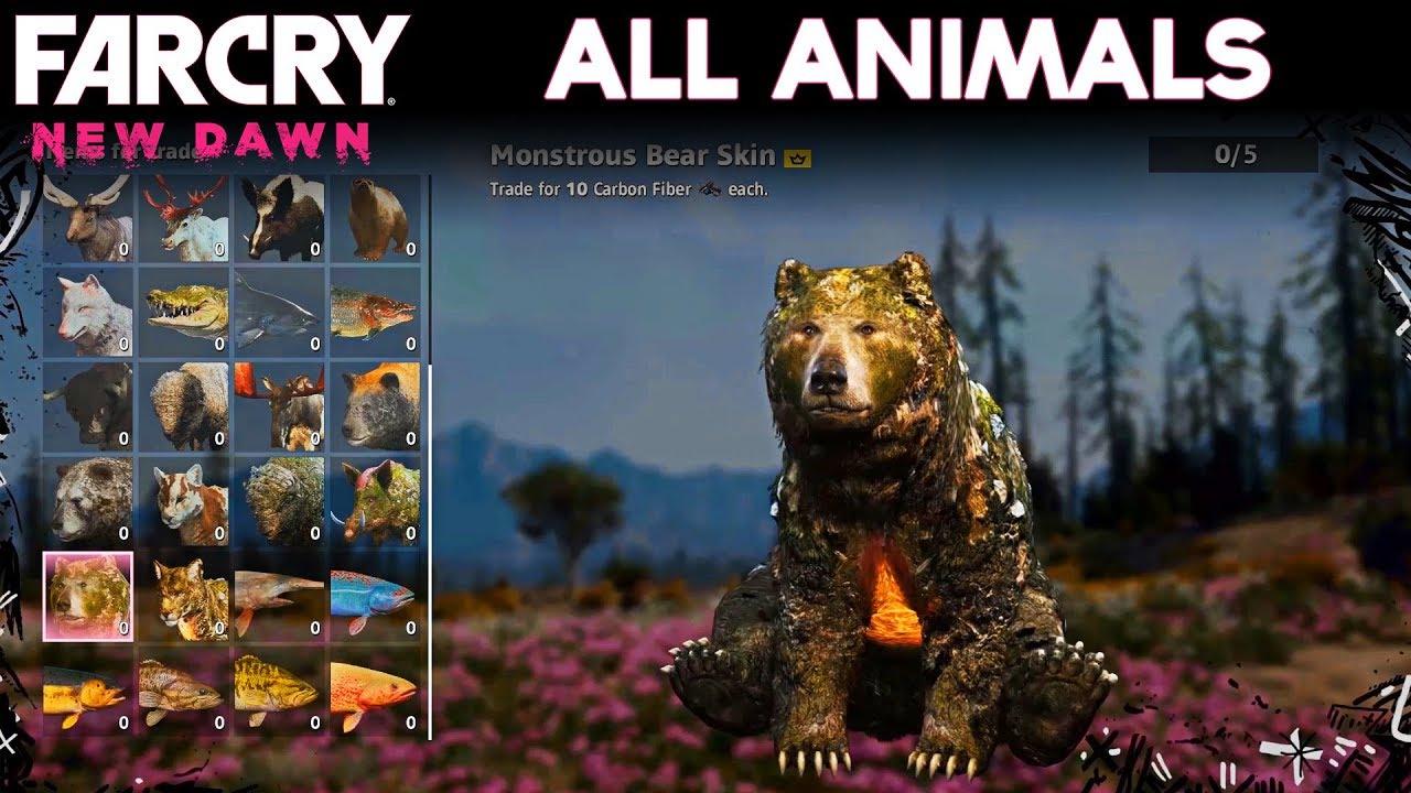 Far Cry New Dawn All Animals Showcase Youtube