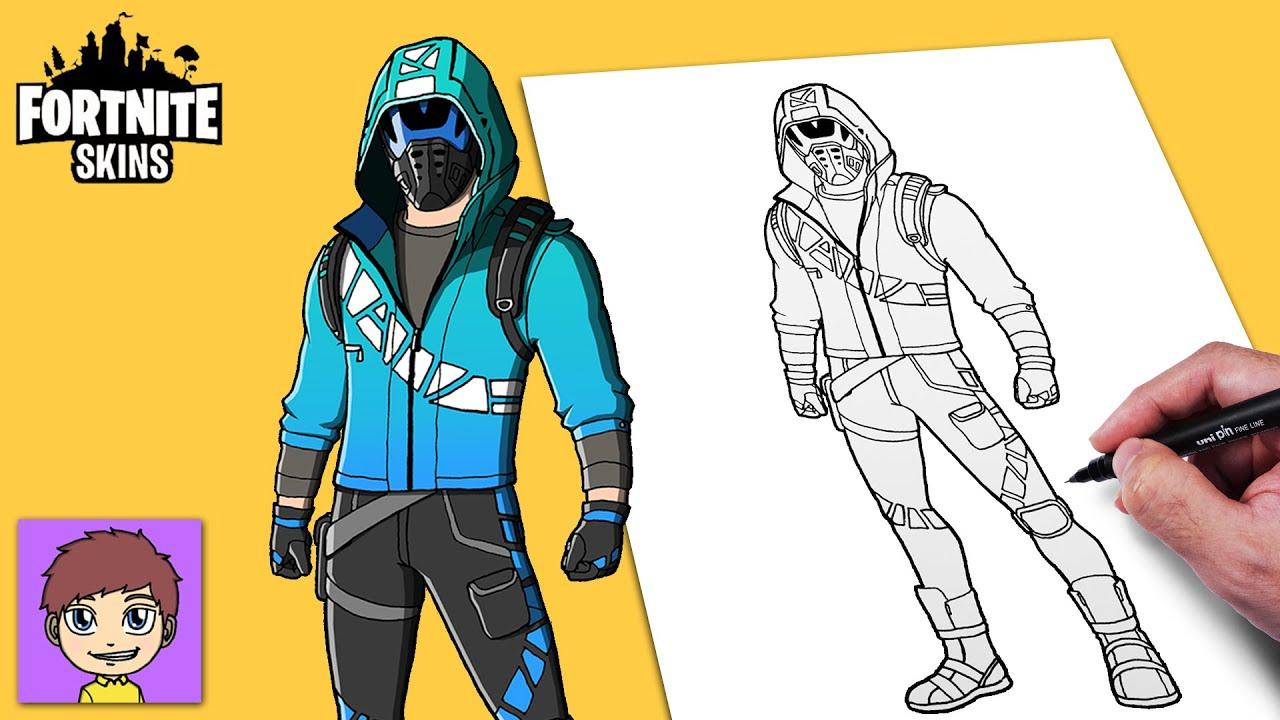 Como Dibujar Fortnite Wave Breaker Skin Passo a Passo - Dibujos Faciles - Dibujos para Dibujar