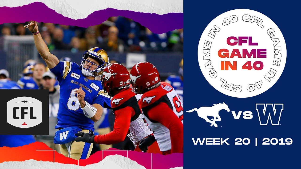 CFL Game in 40: Calgary @ Winnipeg | 2019, week 20