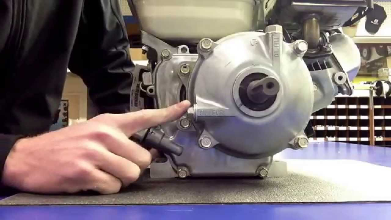 How to fill the engine and gearbox on a Honda GX120 and ...