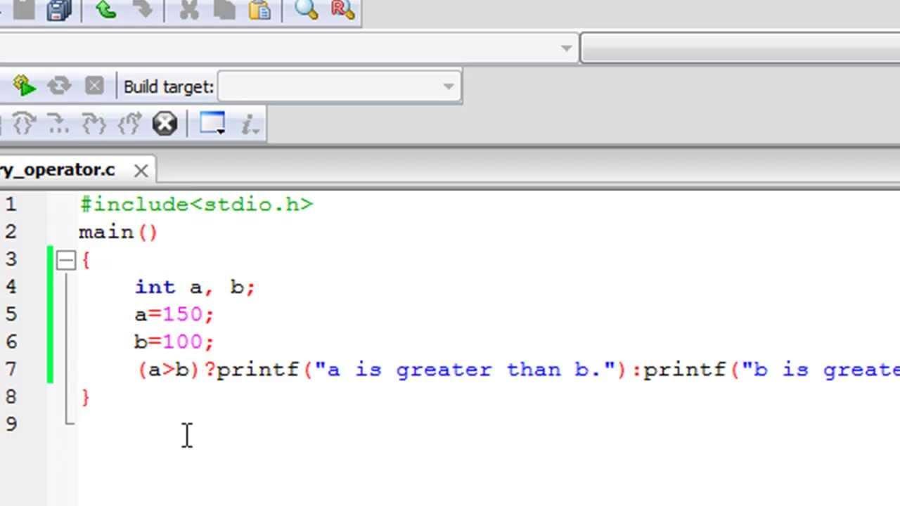 C Programming Tutorial  33 Ternary Operator  YouTube