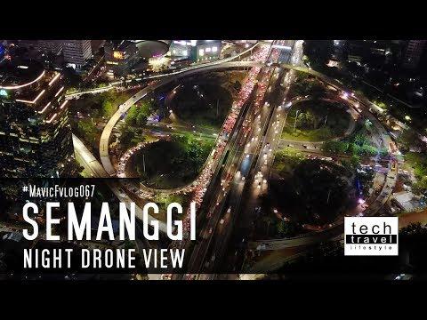 [4K] Simpang Susun Semanggi Malam Hari - Jakarta