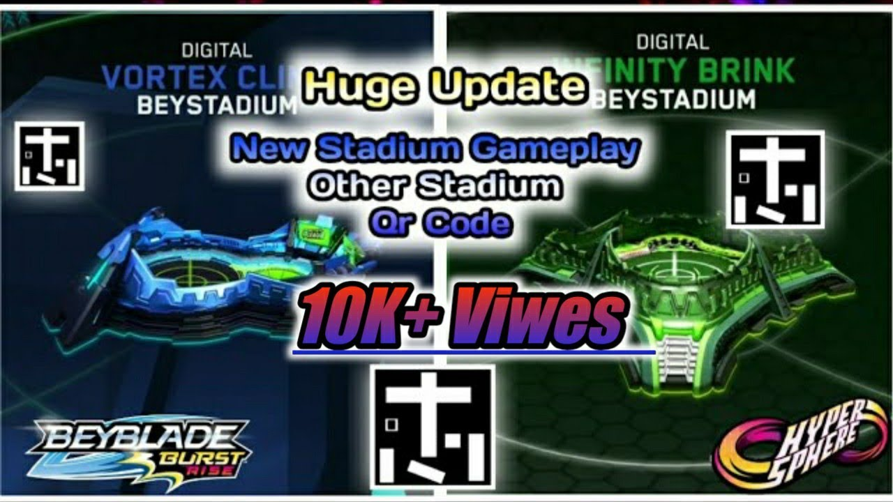 Beyblade burst qr codes launchers and stadiums