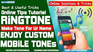 Make Custom Ringtone Which Have Your Name | In Just A Second | FunTips